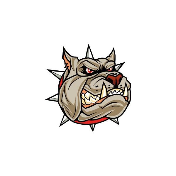 Head Angry Dog