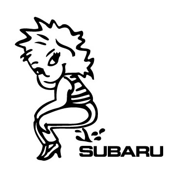 Bad girl pee on Subaru