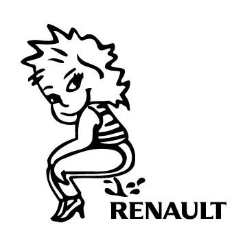 Bad girl pee on Renault
