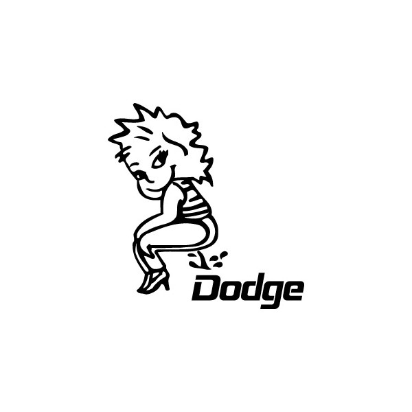 Bad girl fait pipi sur Dodge