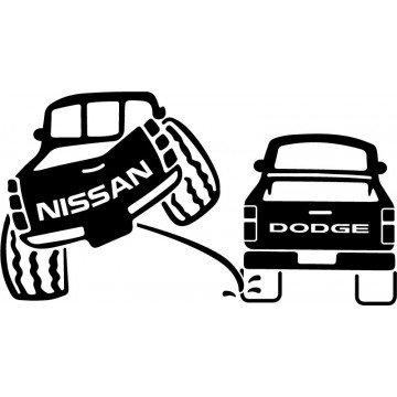 Nissan 4x4 Pee on Dodge