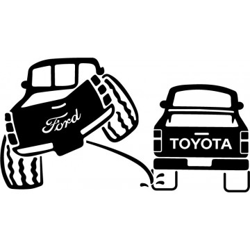 Ford 4x4 Pee on Toyota