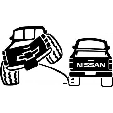 Chevrolet 4x4 Pee on Nissan