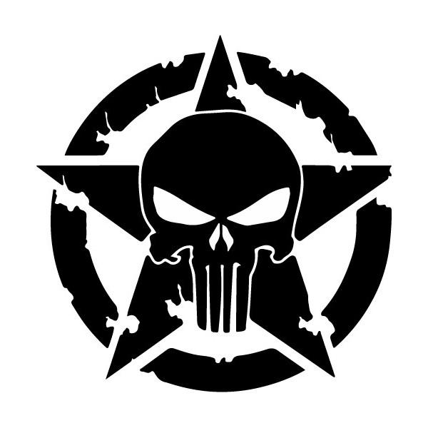 Jeep US Army Star Skull