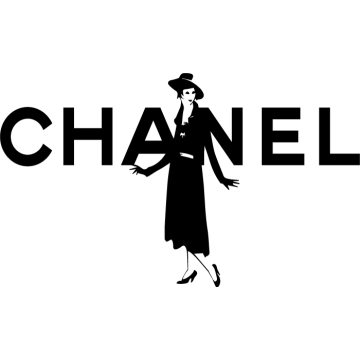 Coco Chanel - lettring + silhouette (20 cm minimum)
