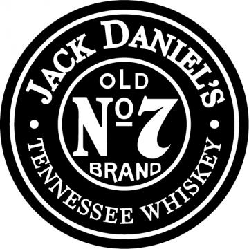Jack Daniel's Lives Here (20cm minimum)