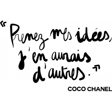 Coco Chanel phrase (20 cm...