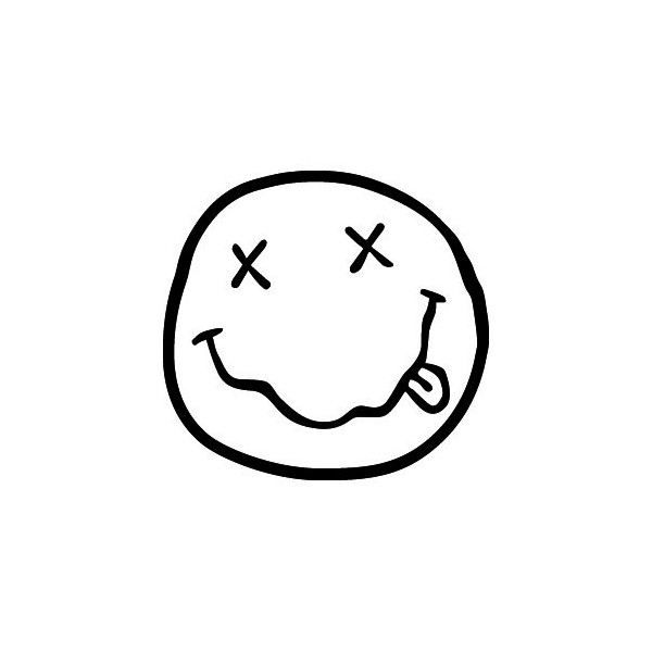 Passion stickers music nirvana smiley - Smiley simple noir et blanc ...