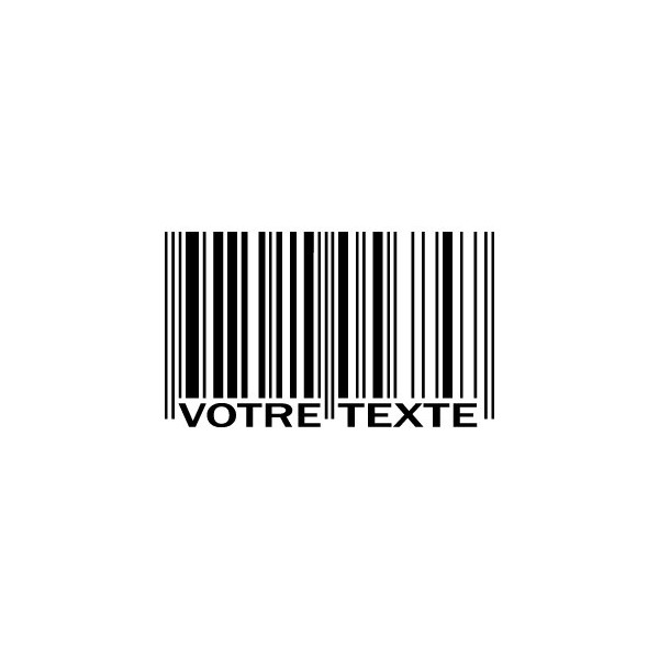Code barre personnalisable